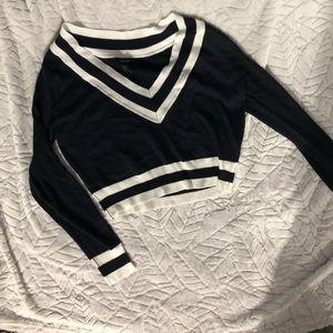 F21 Varsity Sweater